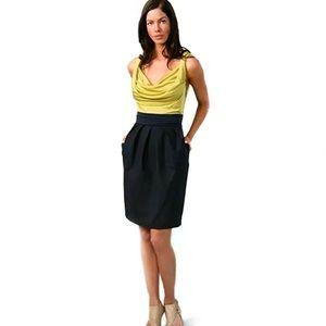 Rachel Roy Mixed Media Cowl Neck Sheath Dress